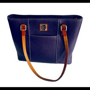 Dooney Bourke Small Lexington Plum Bag EUC